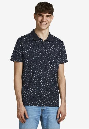 Jack & Jones navy All Over Printed Polo Shirt 7293BAA306A698GS_1