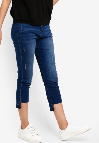 Something Borrowed blue Step Hem Skinny Jeans 535C3AAFE418BCGS_1