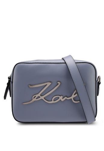 KARL LAGERFELD blue k/signature camera bag KA533AC0SDBWMY_1