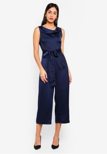 3934df46de8d Buy WAREHOUSE Int Cowl Culotte Jumpsuit Online on ZALORA Singapore