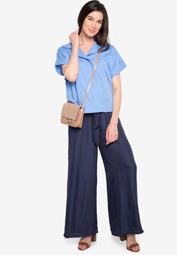eb538a4f0fd39 Shop ccicci Olivia Drop Shoulder Blouse Online on ZALORA Philippines