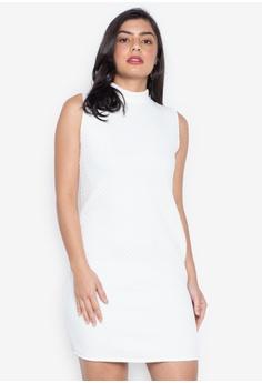 fca6dbce81 D Fashion Engineer white Jade Sleeveless Dress E2235AA1BD4A4AGS 1