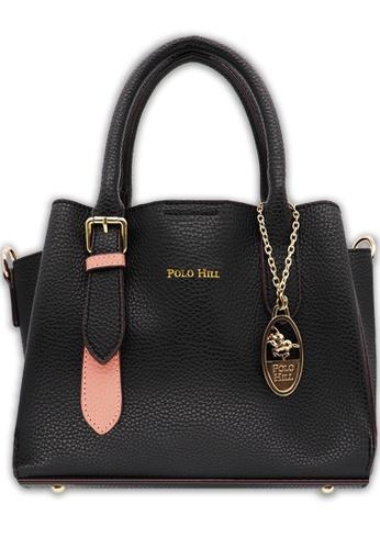 Polo Hill black Top Handle Handbag Black 0114EACE01C66FGS_1