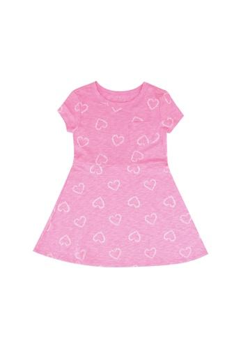 GAP pink Skater Dress 02325KAC4E15BFGS_1