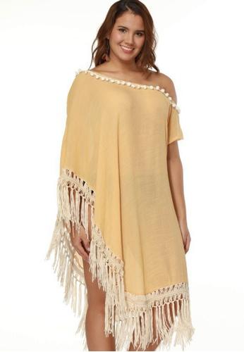 LYCKA beige LTH4080-European Style Beach Casual Outer Dress-Beige 55ACBUS1695548GS_1
