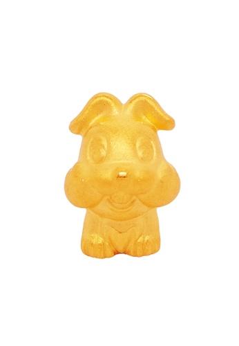 LITZ gold [Free Bracelet] LITZ 999 (24K) Gold Zodiac Dog Charm 生肖狗 EPC0772 B5C6BAC2CCBEB3GS_1