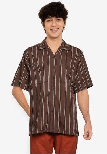 RAGEBLUE brown MEN WOVEN SHIRT FE567AAE3FFC6DGS_1