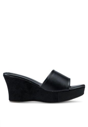 Bata black Slide On Wedges 9B16DSH01EA198GS_1