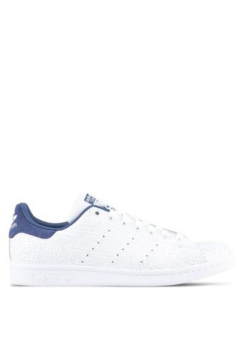 adidas white adidas originals stan smith w AD372SH0SSO7MY_1