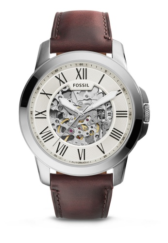 Fossil brown Fossil Grant Dark Brown Leather Watch ME3099 FO164AC60IQXMY_1
