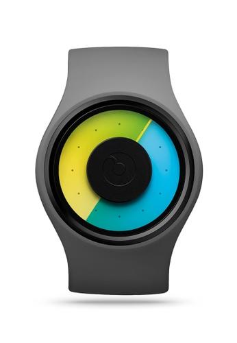 ZIIIRO grey and green and blue Aurora One Grey Watch ED370AC0683DC7GS_1