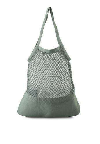 Rubi green Woven Shopper Bag 7E73DACCAF54D0GS_1