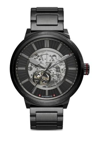 Armani Exchange black Armani Exchange Black Stainless Steel Watch AX1416 AR162AC60RVFMY_1