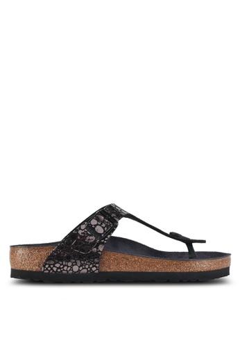 Birkenstock black Gizeh Metallic Stones Sandals DCF60SH55B8A25GS_1