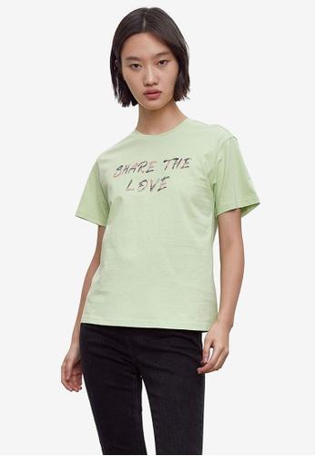 URBAN REVIVO green Women's T-Shirt CC2C5AA9FC09EAGS_1