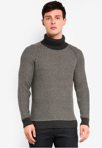 Selected Homme beige Nick Roll Neck Pullover 839F3AA1E09109GS_1