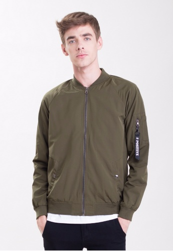 Drum Bomber Jacket - Army Green DR425AA0SAQ4MY_1