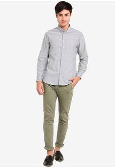 7eadc559413976 ZALORA BASICS Basic Oxford Slim Fit Long Sleeves Shirt S$ 34.90. Sizes XS S  M L XL