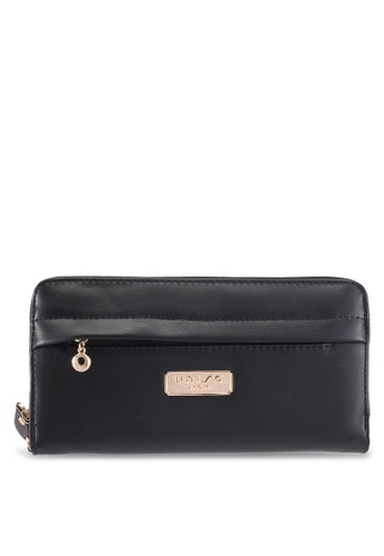 Unisa black Faux Leather Zip-Up Wallet With Front Zip CF606AC30992AFGS_1