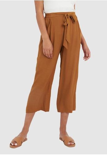 FORCAST orange FORCAST Gina Tie-Front Pants 06083AA7A3E2B0GS_1
