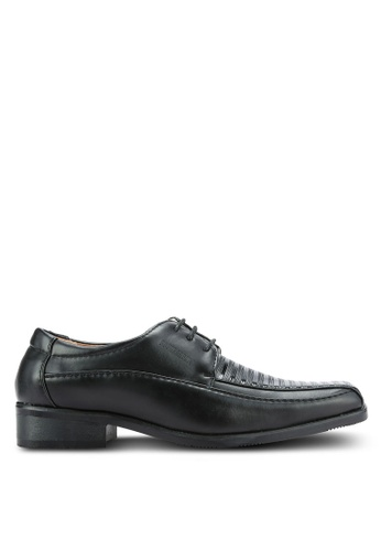 Rocklander black Textured Dress Shoes RO978SH0RH9RMY_1