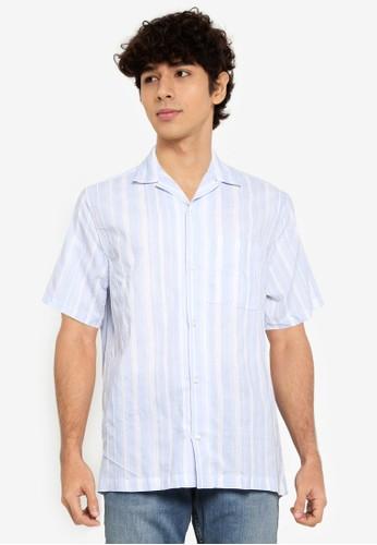Gap blue Dobby Camp Collar Shirt 90617AAC7122F7GS_1
