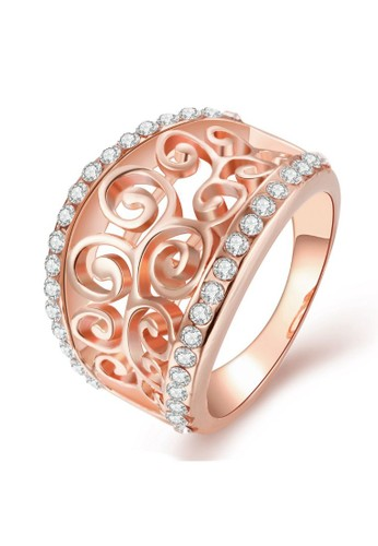 Tiaria pink Tiaria Gold Plated Ring Casual Fashion KRGPR710-A-7--K16 B5206AC8223796GS_1