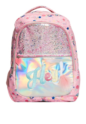LC Waikiki pink Girl Sequined Hologram Backpack 2493DKCDF6127DGS_1
