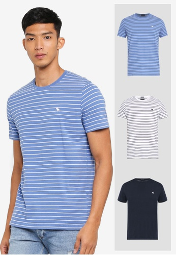 Abercrombie & Fitch blue 3-Pack Fashion T-Shirt 7FCCEAA34E640CGS_1