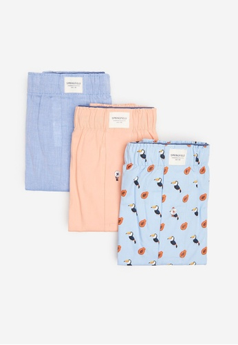 Springfield blue 3-Pack Toucan Woven Boxers 036C8US2C2BBFCGS_1