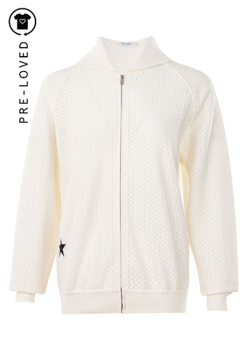 Dior white Pre-Loved dior Zip Up Jacket with Embroidered Star 7A5EAAAB852DEFGS_1
