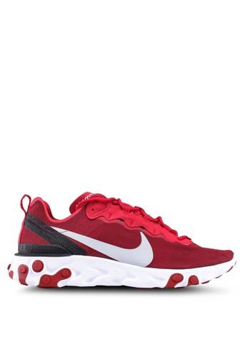 Nike red Nike React Element 55 Shoes 4CD91SHD008D50GS_1