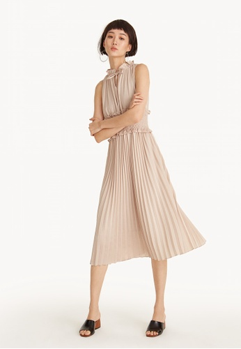 Pomelo pink Maxi Ruffle Smock Waist Ruffle Dress ADDF7AA1A94B31GS_1