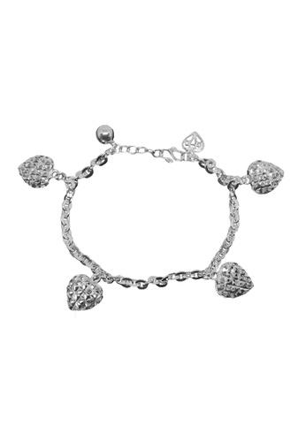 Elfi silver Elfi 925 Genuine Silver Heart Beads Chain Bracelet SB-25M 3E5A4AC89134DCGS_1