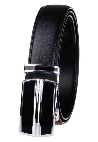 FANYU black Leather Dress Belt With Automatic Buckle belt 45529AC39C2484GS_1