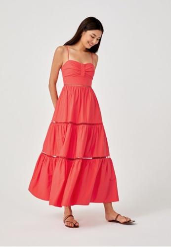 Love, Bonito orange Lenora Bustier Maxi Dress D7CACAAC02FDD3GS_1