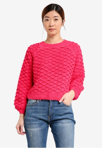 ONLY pink ONLY ONE Poplina Long Sleeve Pullover Knit ON573AA0T0DAMY_1