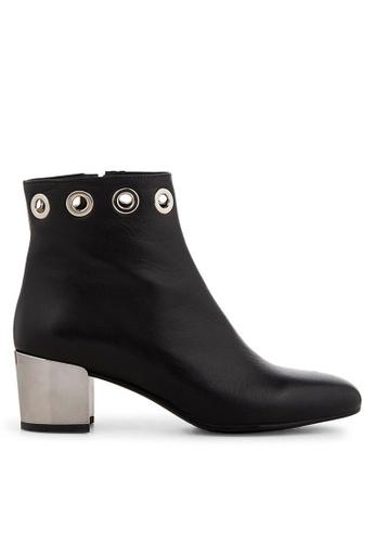 Minelli F80 164 Leather Eyelet Block Heel Ankle Boots - Ghalia MI352SH0GHC6SG_1