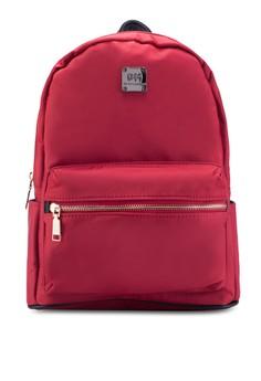 Bagstationz PU Trimmed Nylon Backpack