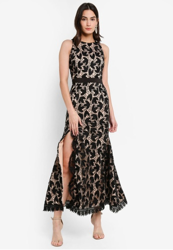 Megane black Red Romance Anete Mermaid Prada Lace Dress 2C072AA10B0EFEGS_1