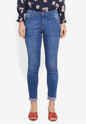 Dorothy Perkins blue Midwash Harper Jeans 17D30AA4F74E02GS_1