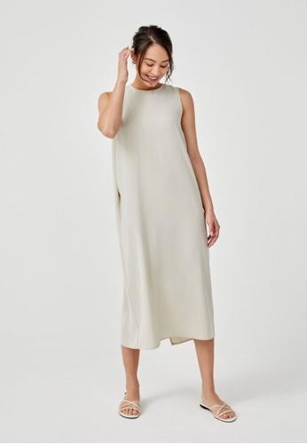 Love, Bonito brown Anitra Midaxi Shift Dress 40CE6AA22B3A6AGS_1