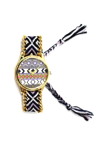 World of Watches multi Ethnic Pattern-J Crochet Strap Watch 010 WO566AC81UBYPH_1