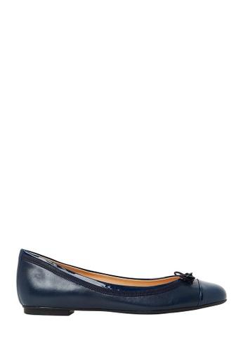 Nina Armando navy Juliana Leather Ballet Flats NI342SH0FV92SG_1