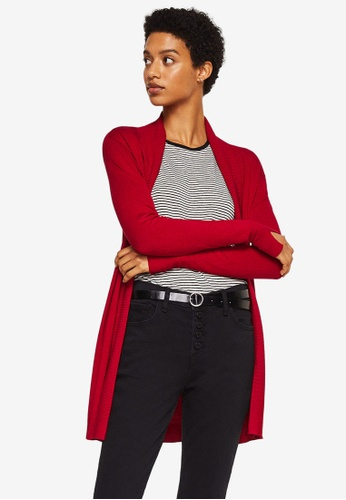 Mango red Ribbed Detail Cardigan 75664AAEAC5A70GS_1