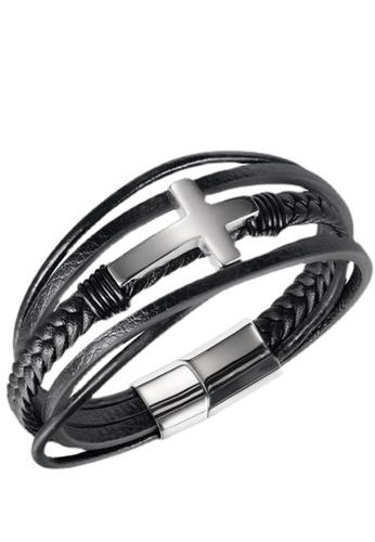 Trendyshop black Men's Bracelet 85740ACD2819DFGS_1