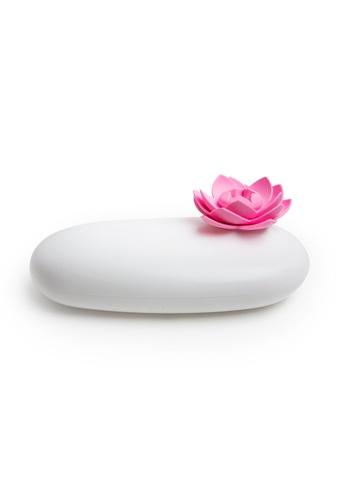 Qualy Qualy Lotus Pebble Box (White/Pink) F6459HL7E83EB4GS_1