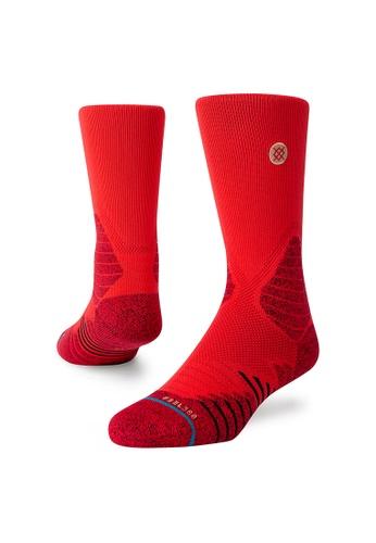 STANCE red STANCE Socks Red Icon Hoops Crew Medium 0756DAA9382F2CGS_1