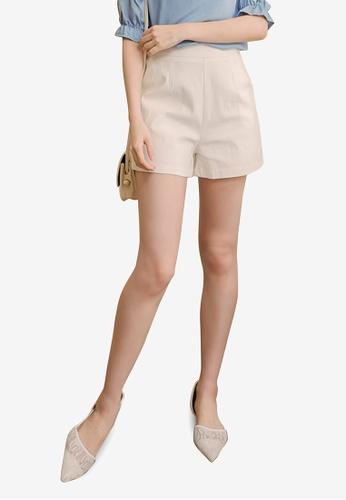 Eyescream white High Scallop Waist Shorts F21C5AA1B9CC42GS_1