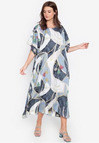 Kamiseta grey Rionette Round Neck Printed Dress 864BDAA9681C58GS_1